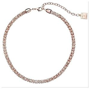Rose Gold-Tone Crystal Collar Necklace!